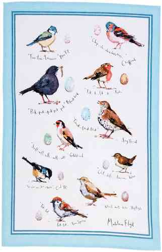 "Geschirrtuch ""Bird Song"" von Madeleine Floyd by Ulster Weavers. Linen tea towel"