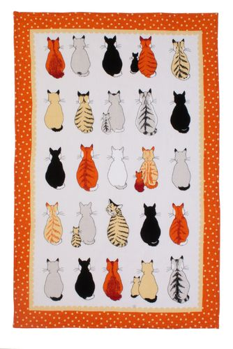 "Geschirrtuch ""Cats in Waiting"" von Ulster Weavers. Linen tea towel"