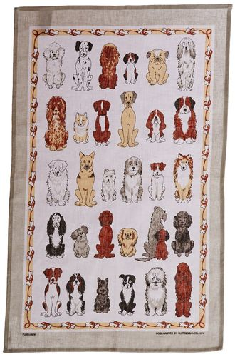 "Geschirrtuch ""Dogs Arrived"" von Ulster Weavers. Tea towel"