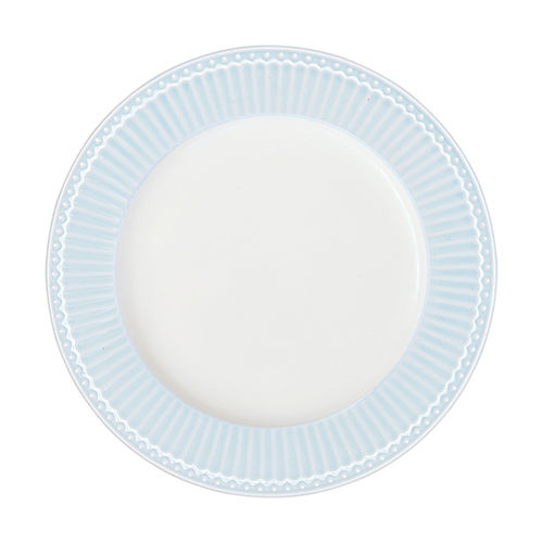 "Essteller ""Alice"" (pale blue) von GreenGate. Speiseteller - Dinnerplate"