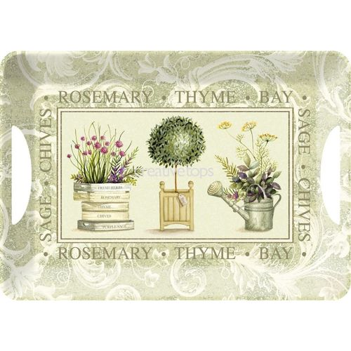 "Serviertablett ""Topiary"" (gross) von Creative tops. Large luxury handled trays"