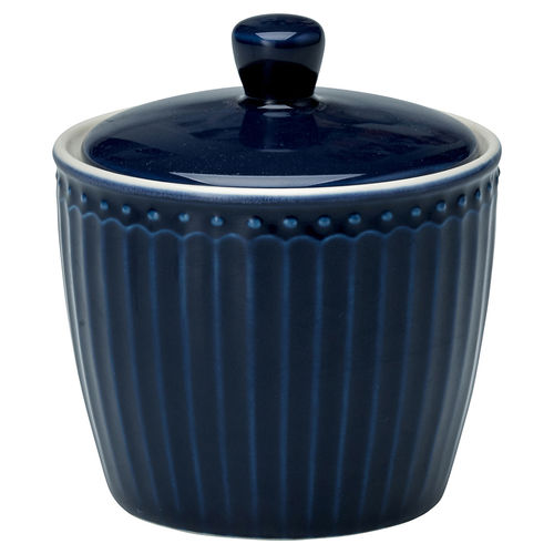 "Zuckerdose ""Alice"" (dark blue) von GreenGate. Sugar pot"