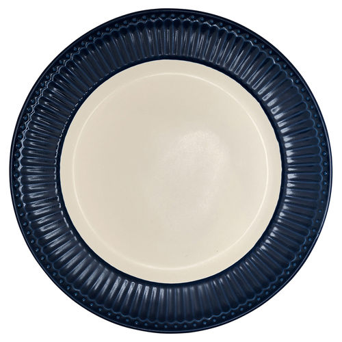 "Essteller ""Alice"" (dark blue) von GreenGate. Speiseteller - Dinnerplate"