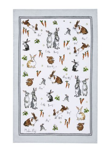 "Geschirrtuch ""Hipperty Hopperty Bunnies"" von Madeleine Floyd by Ulster Weavers. Tea towel"