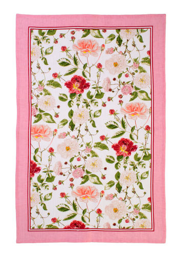 "Geschirrtuch ""Traditional Rose"" RHS von Ulster Weavers. Linen tea towel"