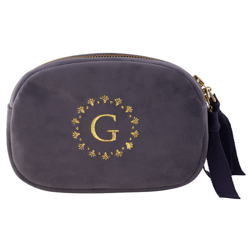 "Kosmetiktasche ""Velvet"" (pale grey) von GreenGate. Cosmetic bag"