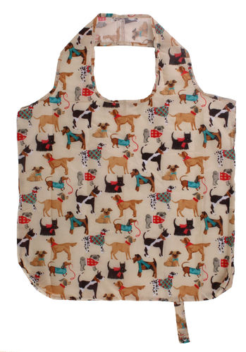 "Mini-Maxi Shopper ""Hound Dogs"" von Ulster Weavers. Packable bag"