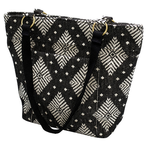 "Schultertasche ""Black with off white pattern"" von GreenGate"