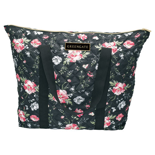 "Tasche ""Meadow"" (black) von GreenGate. Nylon bag large"