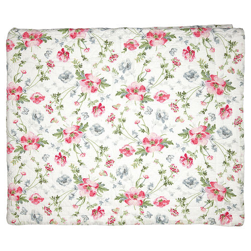 "Quilt ""Meadow"" (white), 140x220cm von GreenGate. Steppdecke"