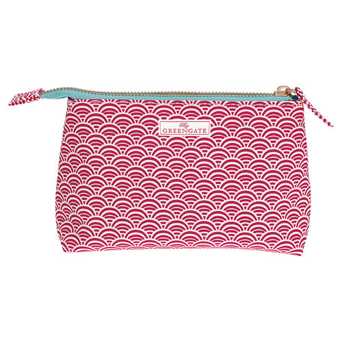 "Necessaire ""Nancy"" (red), klein von GreenGate. Cosmetic bag small"