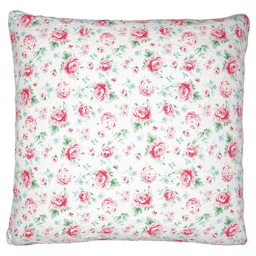 "Kissenhülle ""Meryl"" (white), gesteppt, 50x50cm von GreenGate. Quilted cushion"