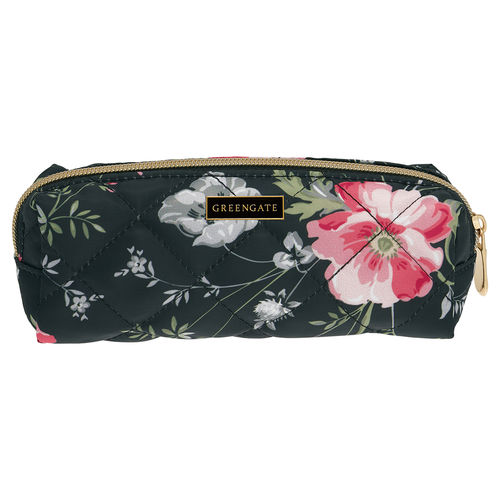 "Kosmetiktasche ""Meadow"" (black) von GreenGate. Nylon pouch"