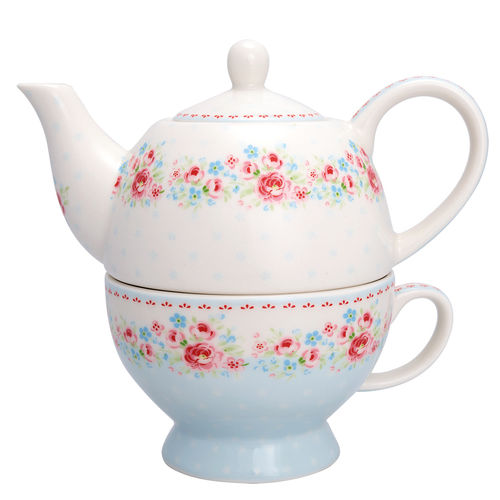 "Tea-for-one ""Tess"" (white) von GreenGate"