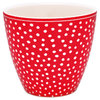 "Latte Cup ""Dot"" (red) von GreenGate. Tasse - Becher - Chacheli"