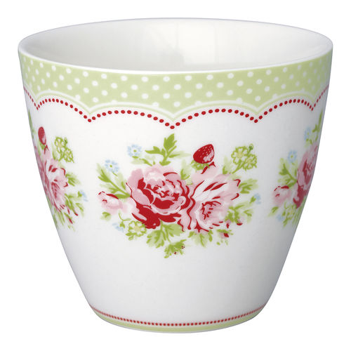 "Latte Cup ""Mary"" (white) von GreenGate. Tasse - Becher - Chacheli"