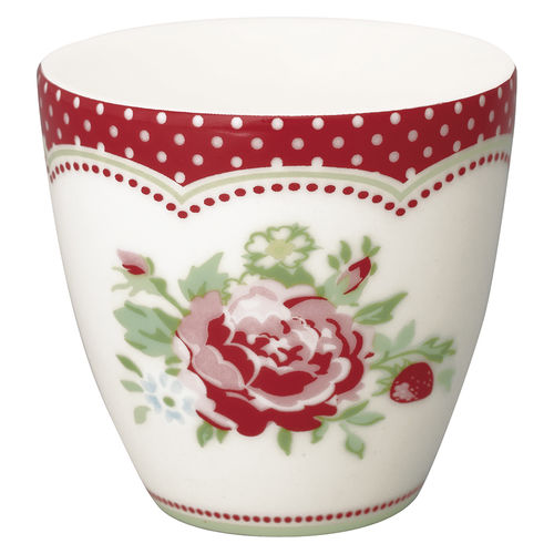 "Mini Latte Cup ""Mary"" (white) von GreenGate. Espresso - Tasse"