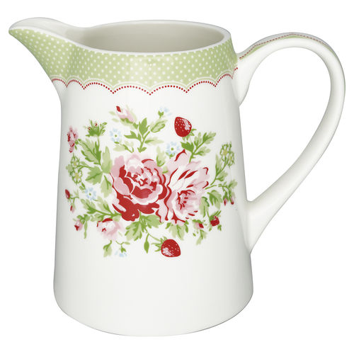 "Grosser Krug ""Mary"" (white) von GreenGate. Jug"