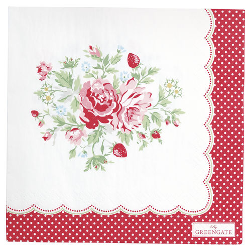 "Papierservietten ""Mary"" (white) von GreenGate. Paper napkin large"