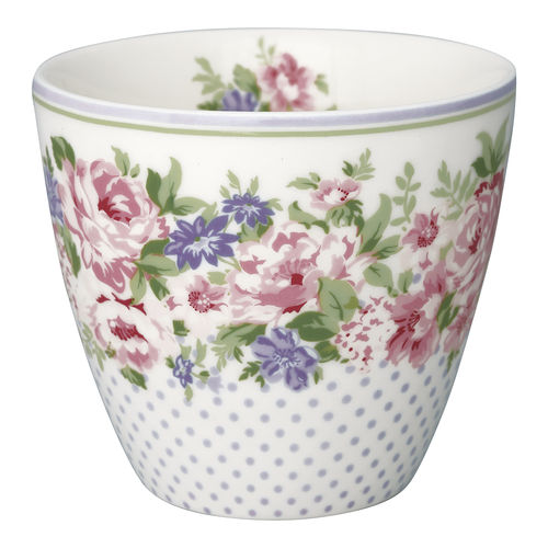 "Latte Cup ""Rose"" (white) von GreenGate. Tasse - Becher - Chacheli"