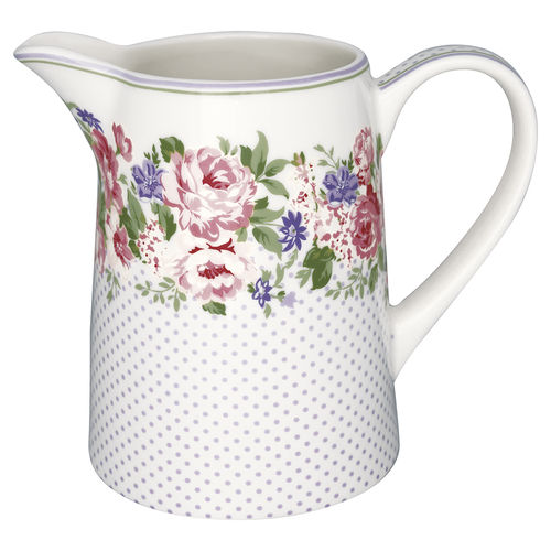 "Grosser Krug ""Rose"" (white) von GreenGate. Jug"