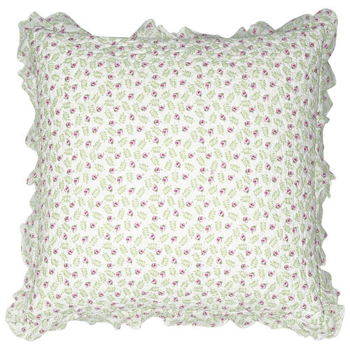 "Kissenhülle ""Lily"" (petit white), gesteppt, 50x50cm von GreenGate. Quilted cushion"