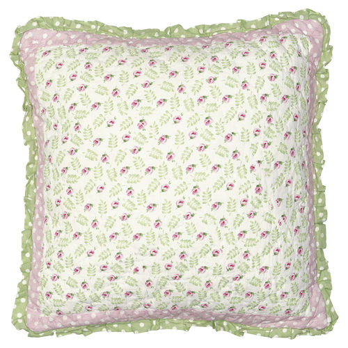"Kissenhülle ""Lily"" (petit white), gesteppt, 40x40cm von GreenGate. Quilted cushion"