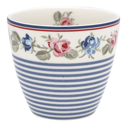 "Latte Cup ""Hailey"" (stripe white) von GreenGate. Tasse - Becher - Chacheli"
