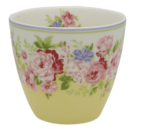 "Latte Cup ""Rose"" (pale yellow) von GreenGate. Tasse - Becher - Chacheli"