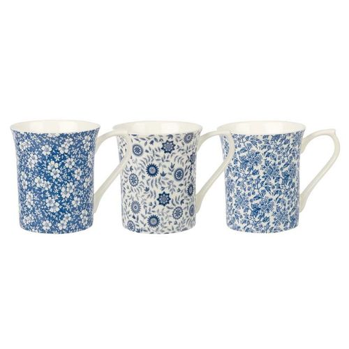 "Tasse ""Blue Story"" in 3 Variationen von Queens by Churchill. Einzelverkauf"