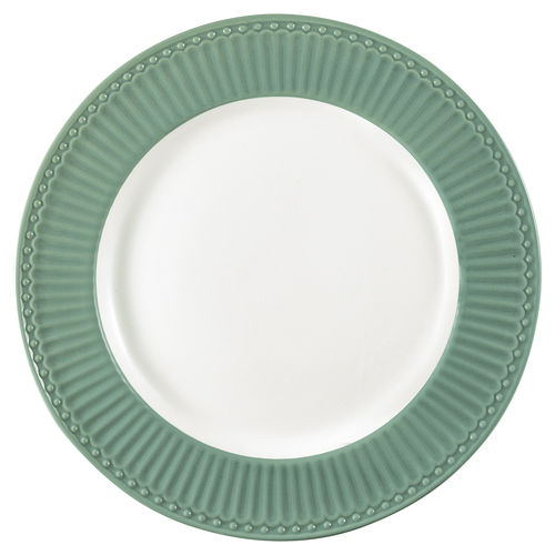 "Essteller ""Alice"" (dusty green) von GreenGate. Speiseteller - Dinner plate"
