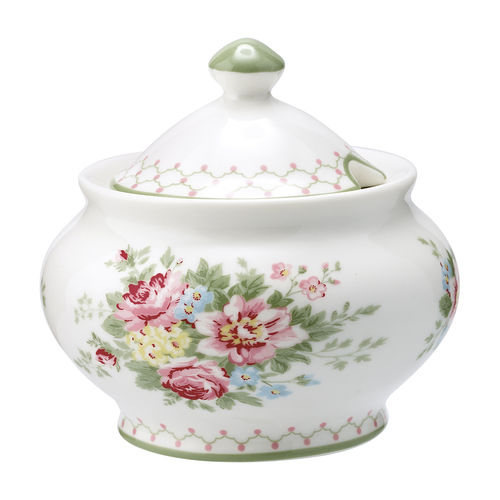 "Zuckerdose ""Aurelia"" (white) von GreenGate. Sugar pot"