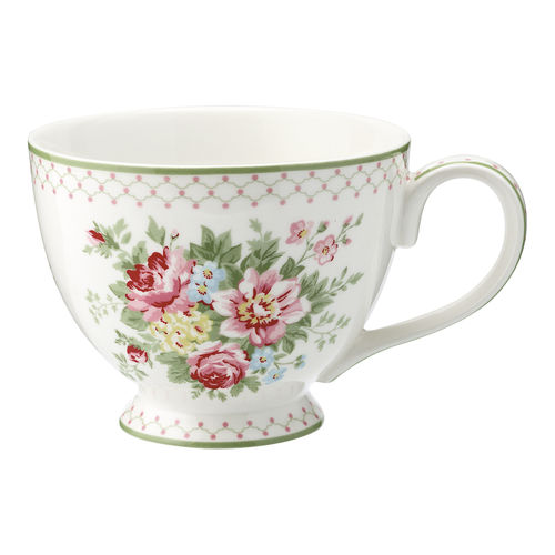 "Teetasse ""Aurelia"" (white) von GreenGate. Teacup"