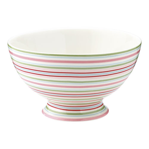 "Suppenschale ""Silvia"" (stripe/white) von GreenGate. Soup bowl"