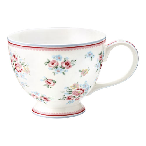 "Teetasse ""Nicoline"" (white) von GreenGate. Teacup"