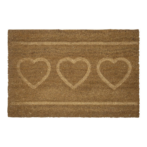 "Fussmatte ""Heart"" (nature) von GreenGate. Doormat"