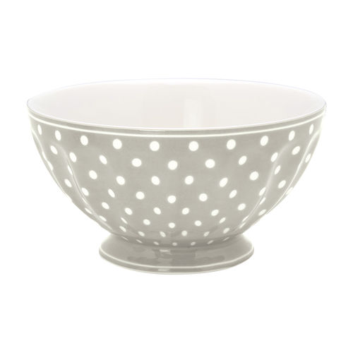 "Schale ""Spot"" (grey) von GreenGate. French bowl x-large"