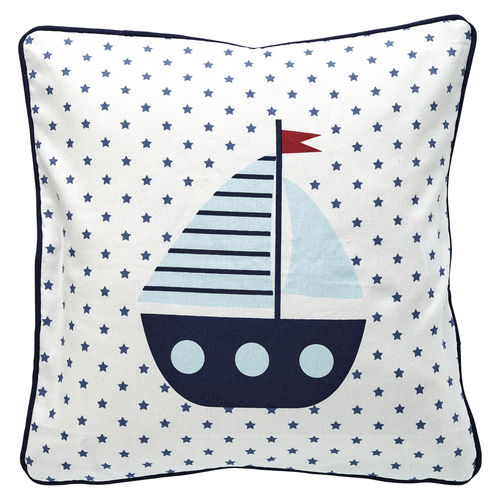 "Kissenhülle ""Noah"" (white/piece printed), 40 x 40cm von GreenGate. Cushion"