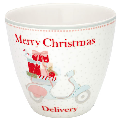 "Latte Cup ""Scooter"" (white) von GreenGate. Tasse - Becher - Chacheli"