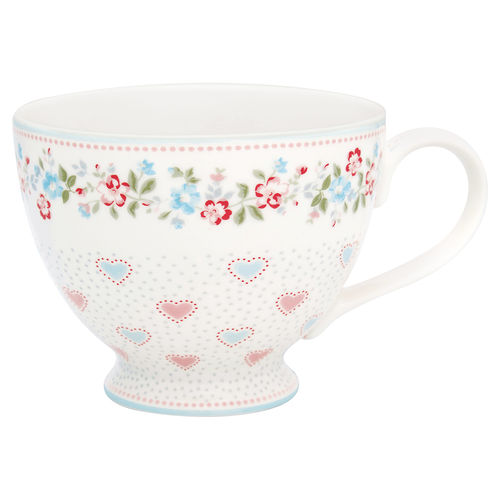 "Teetasse ""Sonia"" (white) von GreenGate. Teacup"