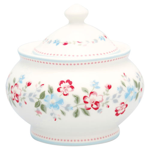 "Zuckerdose ""Sonia"" (white) von GreenGate. Sugar pot"