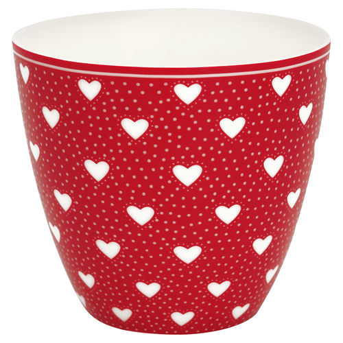 "Latte Cup ""Penny"" (red) von GreenGate. Tasse - Becher - Chacheli"