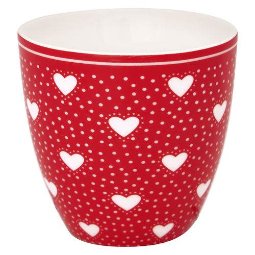 "Mini Latte Cup ""Penny"" (red) von GreenGate. Espresso - Tasse"
