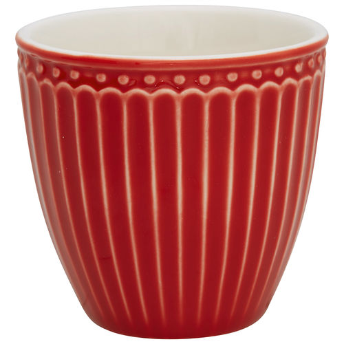 "Mini Latte Cup ""Alice"" (red) von GreenGate. Espresso - Tasse"