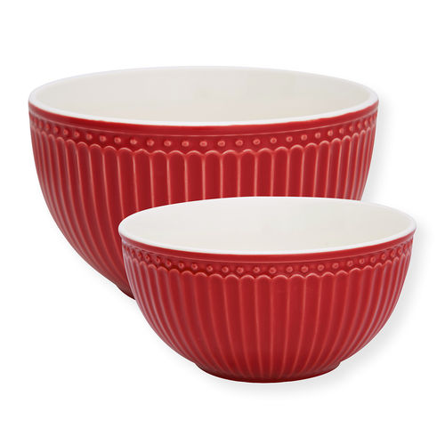"Schüssel ""Alice"" (red) im 2er Set von GreenGate. Serving bowl"