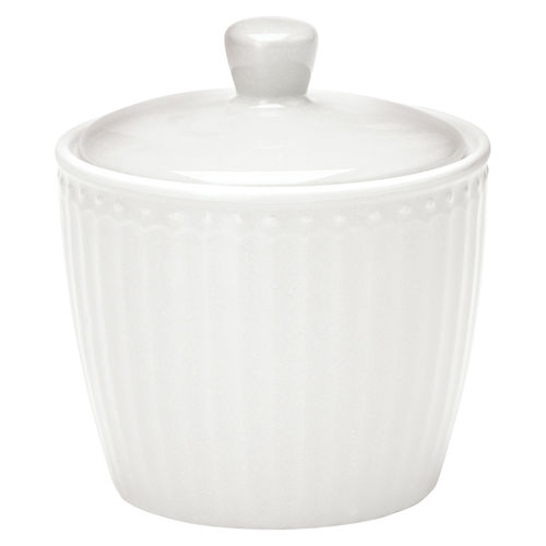 "Zuckerdose ""Alice"" (white) von GreenGate. Sugar pot"