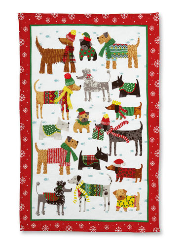 "Geschirrtuch ""Snow Dogs"" von Ulster Weavers. Cotton Tea towel"