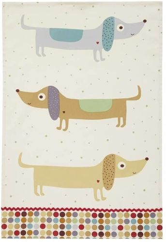 "Geschirrtuch ""Hot Dog"" von Ulster Weavers. Cotton tea towel"