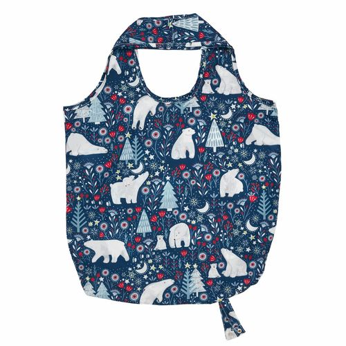 "Mini-Maxi Shopper ""Polar Bear"" von Ulster Weavers. Roll up Bag"