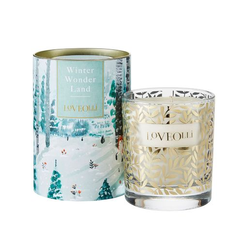"Duftkerze im Glas ""Winter Wonder Land"" von LoveOlli. Scented candle"